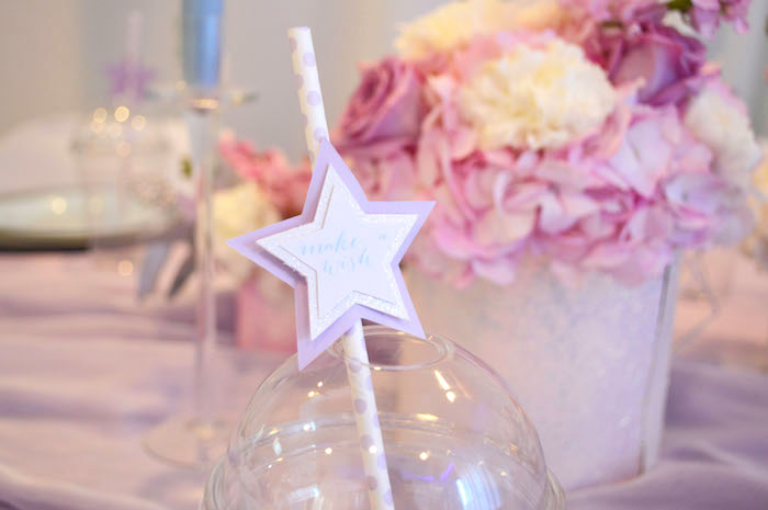 Star straw topper from an Elegant Pastel Unicorn Soiree on Kara's Party Ideas | KarasPartyIdeas.com (26)