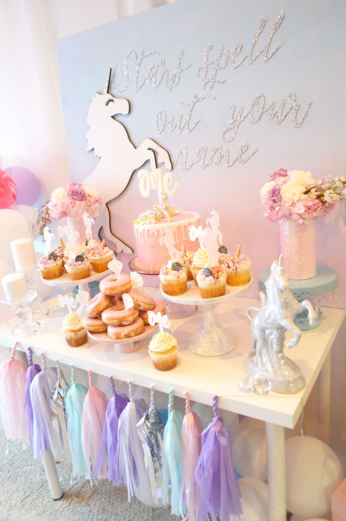 Karas Party Ideas Elegant Pastel Unicorn Soiree