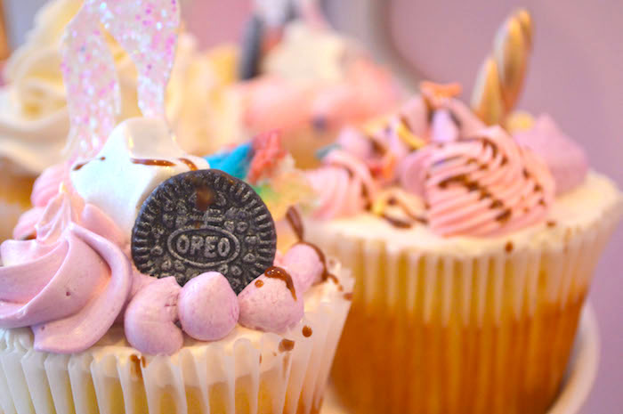 Cupcake from an Elegant Pastel Unicorn Soiree on Kara's Party Ideas | KarasPartyIdeas.com (30)