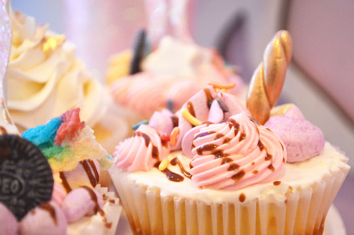 Gourmet unicorn cupcake from an Elegant Pastel Unicorn Soiree on Kara's Party Ideas | KarasPartyIdeas.com (29)