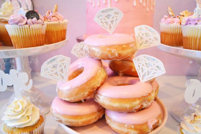 Diamond doughnuts from an Elegant Pastel Unicorn Soiree on Kara's Party Ideas | KarasPartyIdeas.com (28)