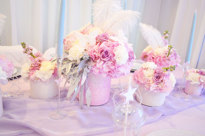 Floral arrangements from an Elegant Pastel Unicorn Soiree on Kara's Party Ideas | KarasPartyIdeas.com (27)