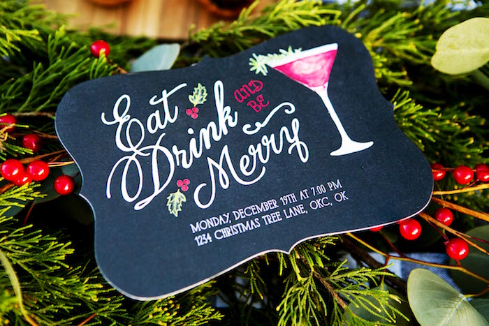 Holiday party invitation from a Favorite Things Holiday Dinner Party on Kara's Party Ideas | KarasPartyIdeas.com (11)