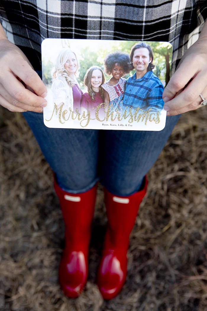 Printed Christmas Card from a Favorite Things Holiday Dinner Party on Kara's Party Ideas | KarasPartyIdeas.com (5)