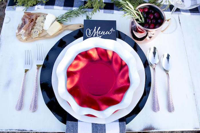 Christmas place setting from a Favorite Things Holiday Dinner Party on Kara's Party Ideas | KarasPartyIdeas.com (4)