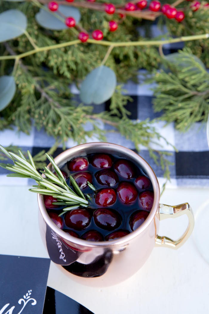Cranberry drink from a Favorite Things Holiday Dinner Party on Kara's Party Ideas | KarasPartyIdeas.com (22)