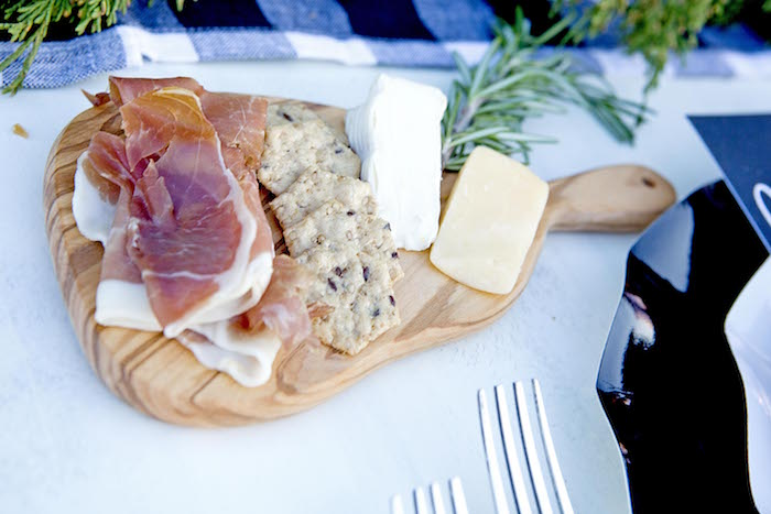 Meat & cheese platter from a Favorite Things Holiday Dinner Party on Kara's Party Ideas | KarasPartyIdeas.com (21)