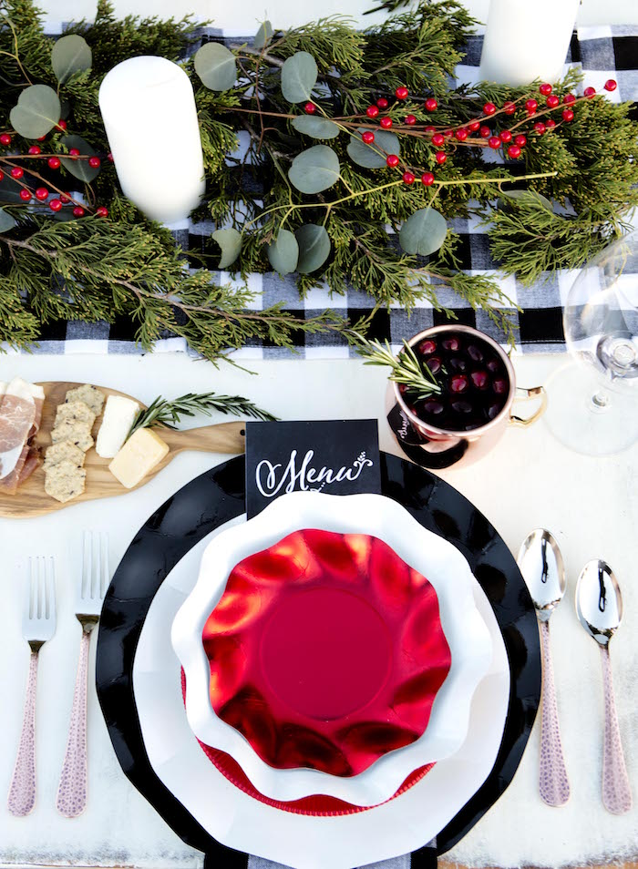 Place setting from a Favorite Things Holiday Dinner Party on Kara's Party Ideas | KarasPartyIdeas.com (15)