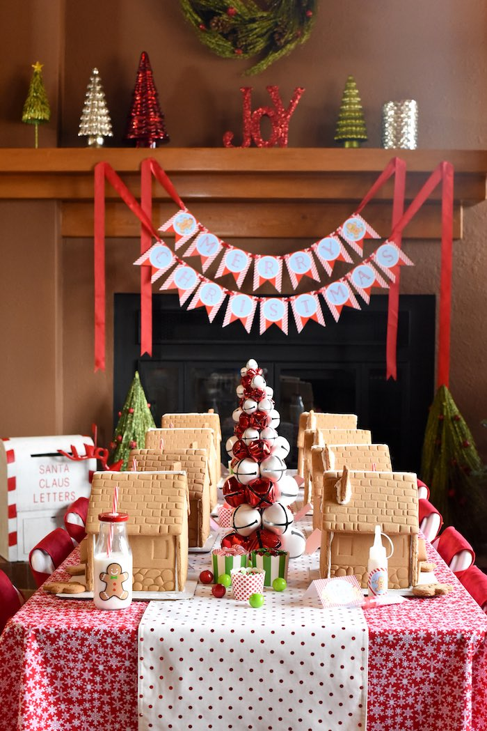 Christmas Party Table Decorations Ideas.Kara S Party Ideas Gingerbread Decorating Holiday Christmas