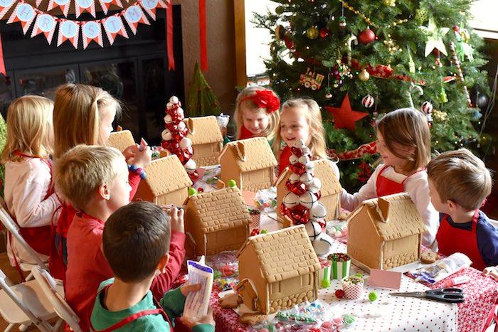 Gingerbread Decorating Holiday Christmas Party on Kara's Party Ideas | KarasPartyIdeas.com (16)