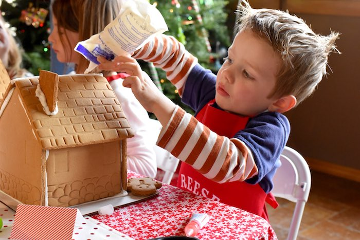 Gingerbread Decorating Holiday Christmas Party on Kara's Party Ideas | KarasPartyIdeas.com (15)