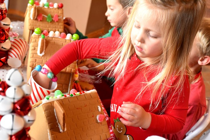 Gingerbread Decorating Holiday Christmas Party on Kara's Party Ideas | KarasPartyIdeas.com (13)
