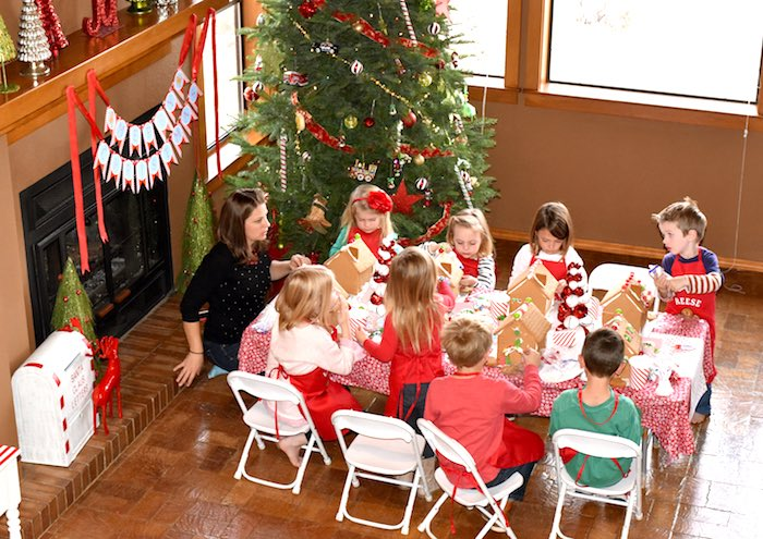 Gingerbread Decorating Holiday Christmas Party on Kara's Party Ideas | KarasPartyIdeas.com (12)