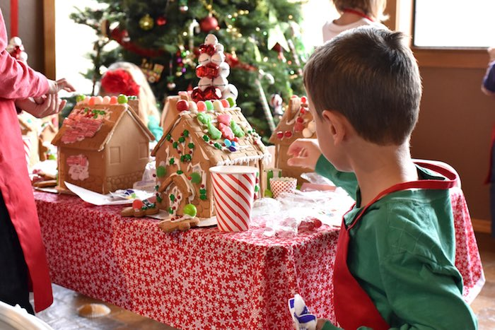 Gingerbread Decorating Holiday Christmas Party on Kara's Party Ideas | KarasPartyIdeas.com (11)