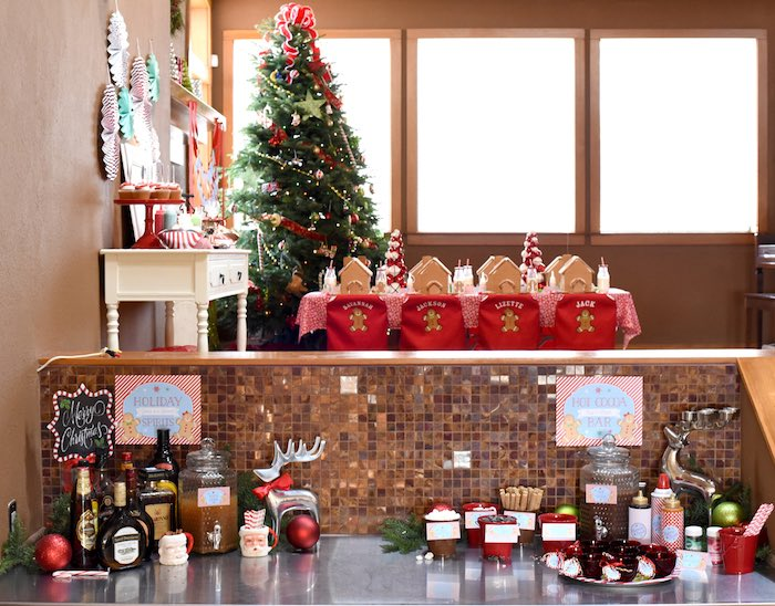 Gingerbread Decorating Holiday Christmas Party on Kara's Party Ideas | KarasPartyIdeas.com (47)