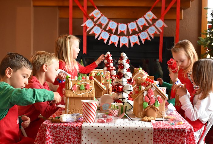Gingerbread Decorating Holiday Christmas Party on Kara's Party Ideas | KarasPartyIdeas.com (10)