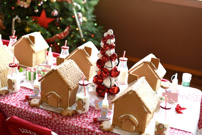 Gingerbread houses from a Gingerbread Decorating Holiday Christmas Party on Kara's Party Ideas | KarasPartyIdeas.com (46)