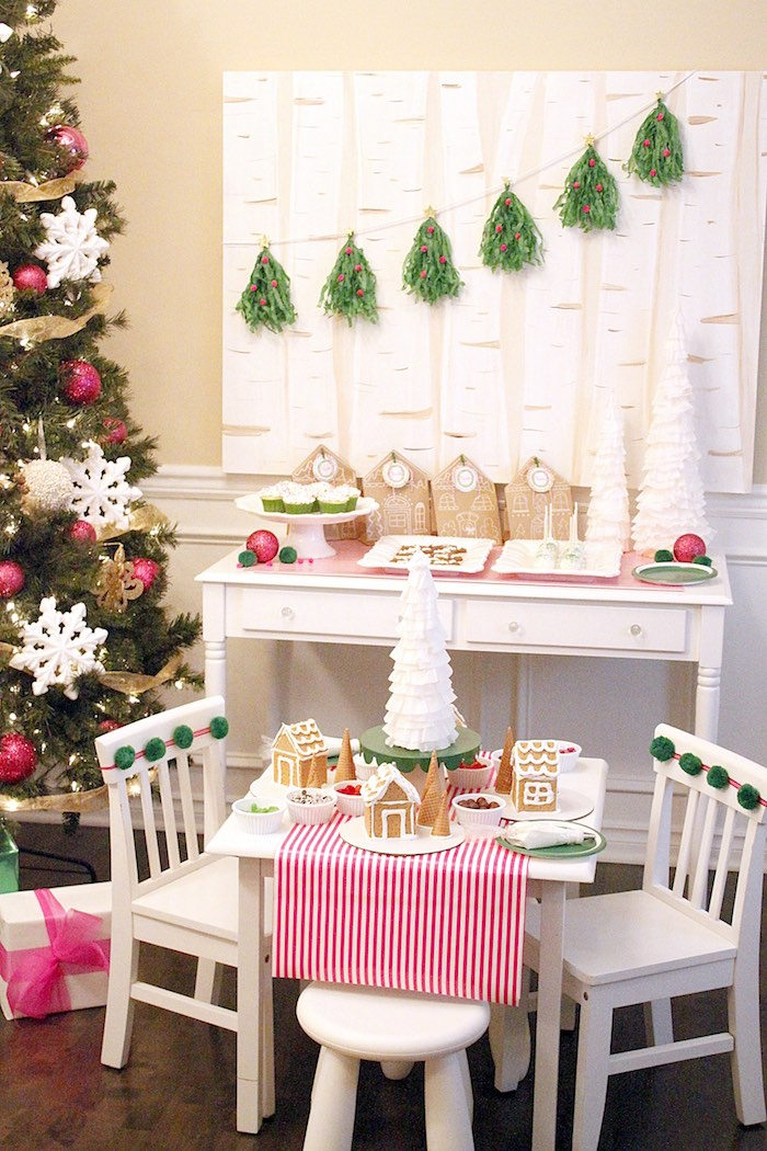 Gingerbread House Decorating Party on Kara's Party Ideas | KarasPartyIdeas.com (30)
