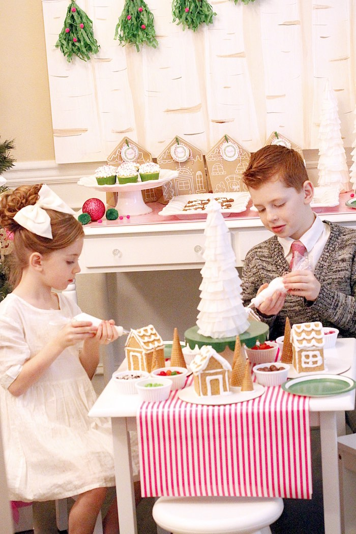 Gingerbread House Decorating Party on Kara's Party Ideas | KarasPartyIdeas.com (21)