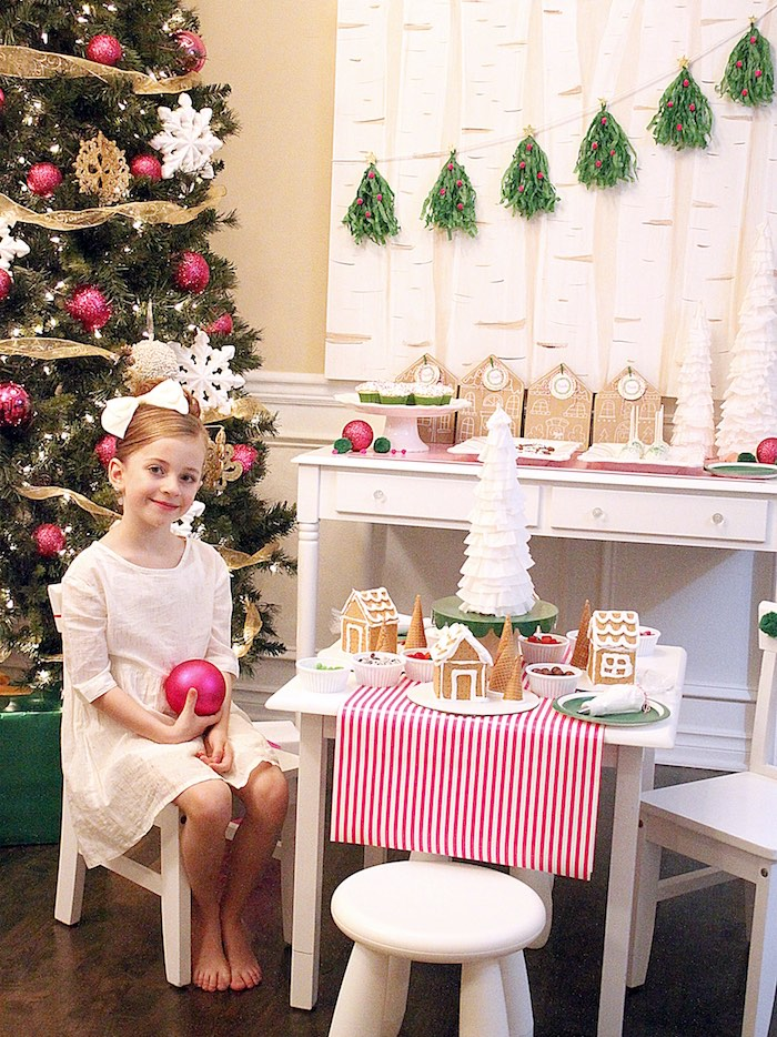 Gingerbread House Decorating Party on Kara's Party Ideas | KarasPartyIdeas.com (39)