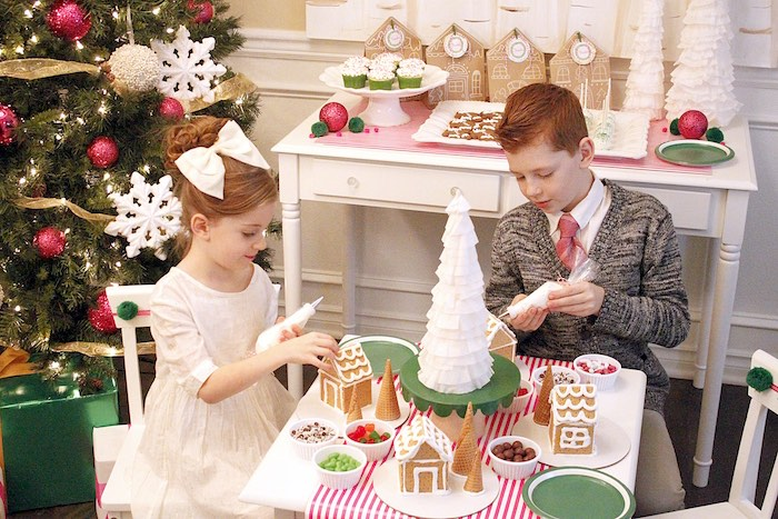 Gingerbread House Decorating Party on Kara's Party Ideas | KarasPartyIdeas.com (20)