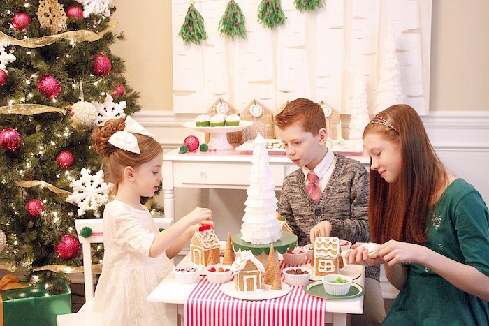 Gingerbread House Decorating Party on Kara's Party Ideas | KarasPartyIdeas.com (19)