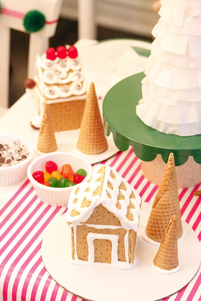 Gingerbread House Decorating Party on Kara's Party Ideas | KarasPartyIdeas.com (16)