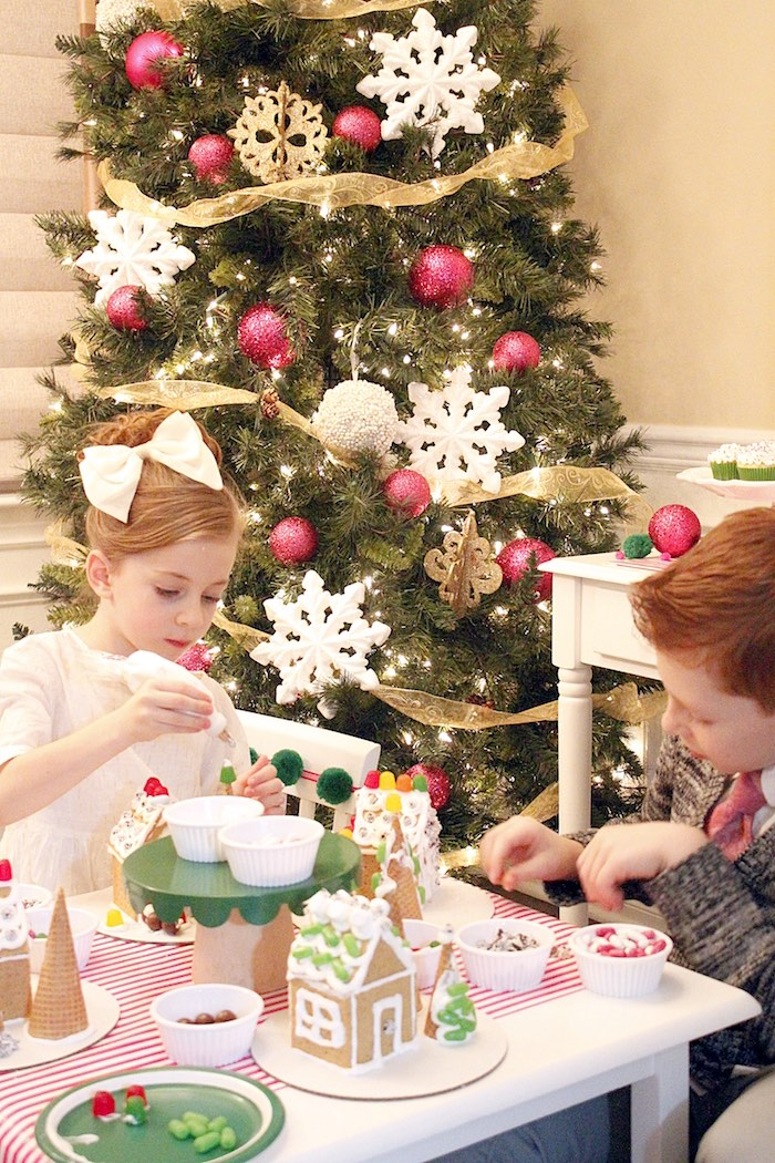 Gingerbread House Decorating Party on Kara's Party Ideas | KarasPartyIdeas.com (14)