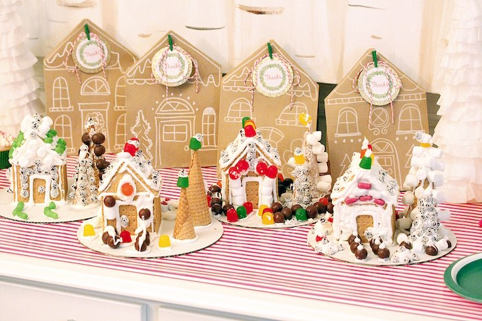 Gingerbread House Decorating Party on Kara's Party Ideas | KarasPartyIdeas.com (11)