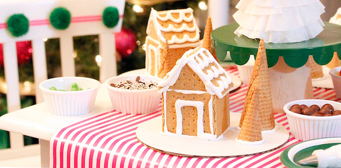 Gingerbread House Decorating Party on Kara's Party Ideas | KarasPartyIdeas.com (3)