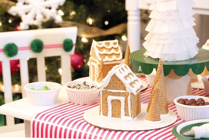 Kara\'s Party Ideas Gingerbread House Decorating Party ...