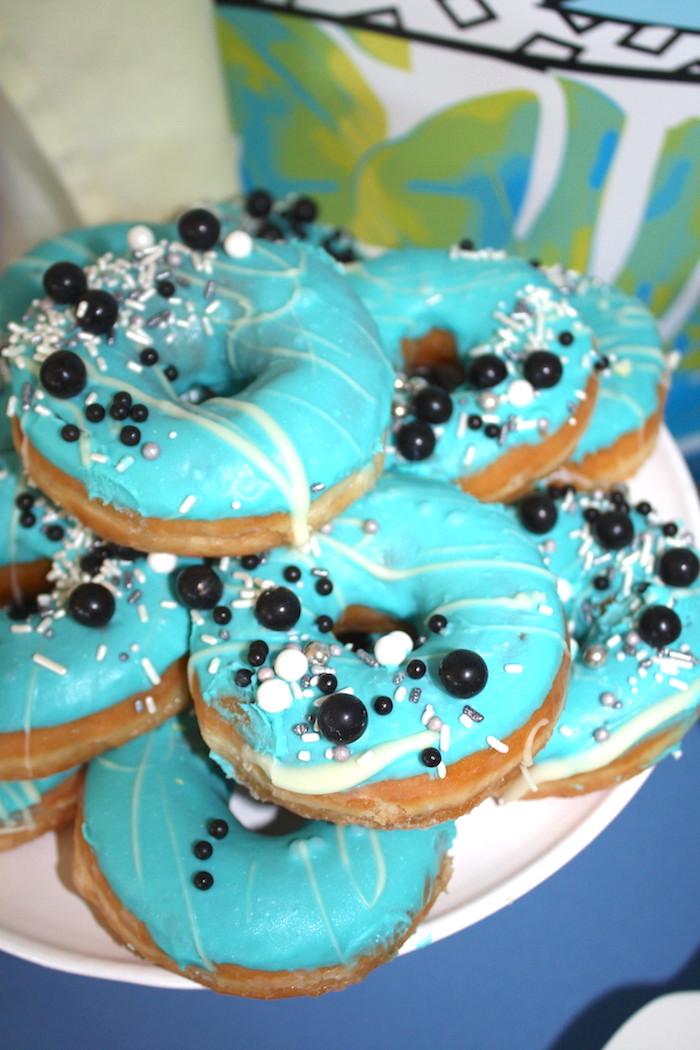 Sprinkled doughnuts from a Girly Wild Safari Birthday Party on Kara's Party Ideas | KarasPartyIdeas.com (18)