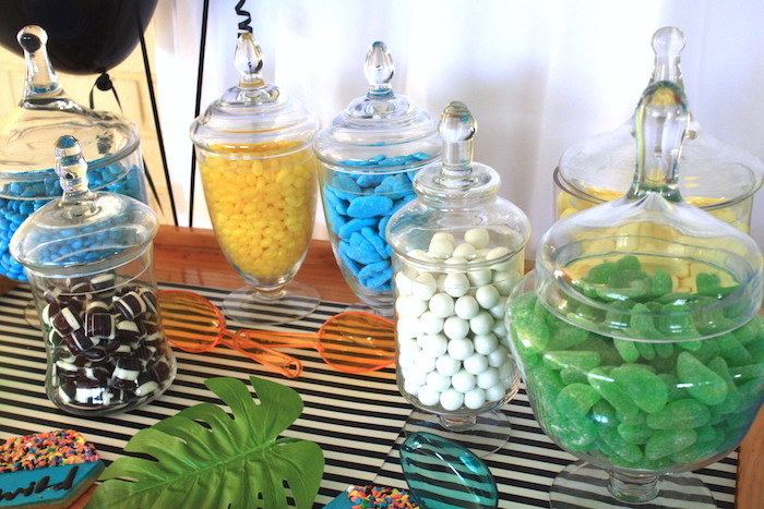 Candy buffet from a Girly Wild Safari Birthday Party on Kara's Party Ideas | KarasPartyIdeas.com (16)