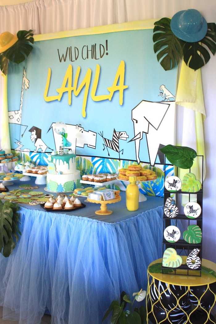 Girly Wild Safari Birthday Party on Kara's Party Ideas | KarasPartyIdeas.com (15)