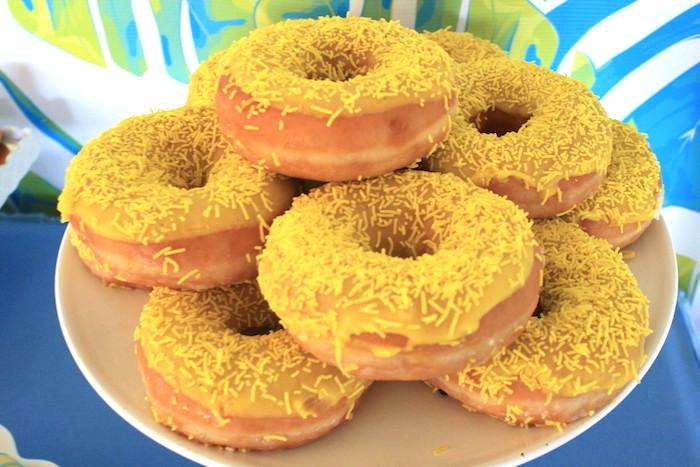 Doughnuts from a Girly Wild Safari Birthday Party on Kara's Party Ideas | KarasPartyIdeas.com (11)