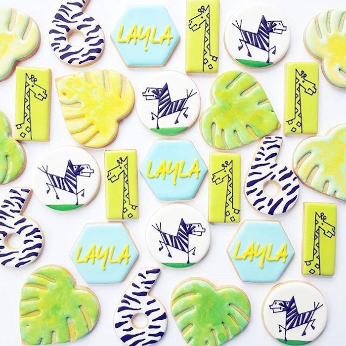 Safari cookies from a Girly Wild Safari Birthday Party on Kara's Party Ideas | KarasPartyIdeas.com (29)