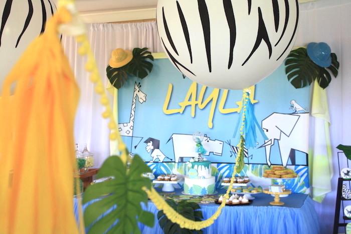 Girly Wild Safari Birthday Party on Kara's Party Ideas | KarasPartyIdeas.com (7)