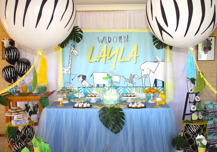 Girly Wild Safari Birthday Party on Kara's Party Ideas | KarasPartyIdeas.com (22)
