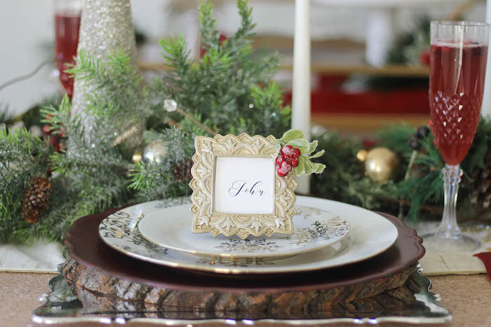 Holly & Ivy Holiday Dinner Party on Kara's Party Ideas | KarasPartyIdeas.com (22)