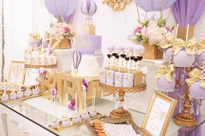 Karas party ideas purple gold hot air balloon baby shower sweetscape from a hot air balloon baby shower on karas party ideas karaspartyideas purple gold junglespirit Choice Image