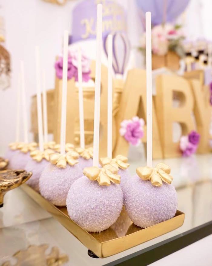 Cake pops from a Hot Air Balloon Baby Shower on Kara's Party Ideas | KarasPartyIdeas.com (11)