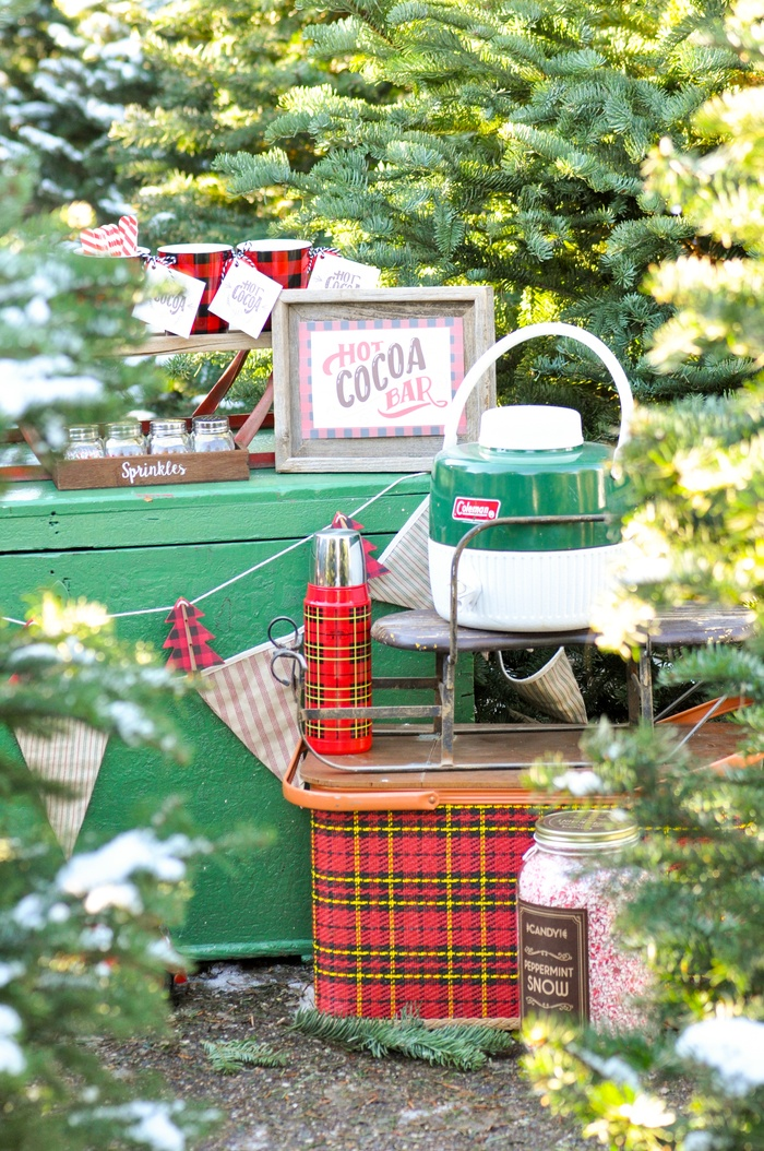 Hot Cocoa Bar Christmas Party with FREE PRINTABLES by Kara's Party Ideas | KarasPartyIdeas.com for Canon | Hot Chocolate Sign, Hot Chocolate Tags, and more!