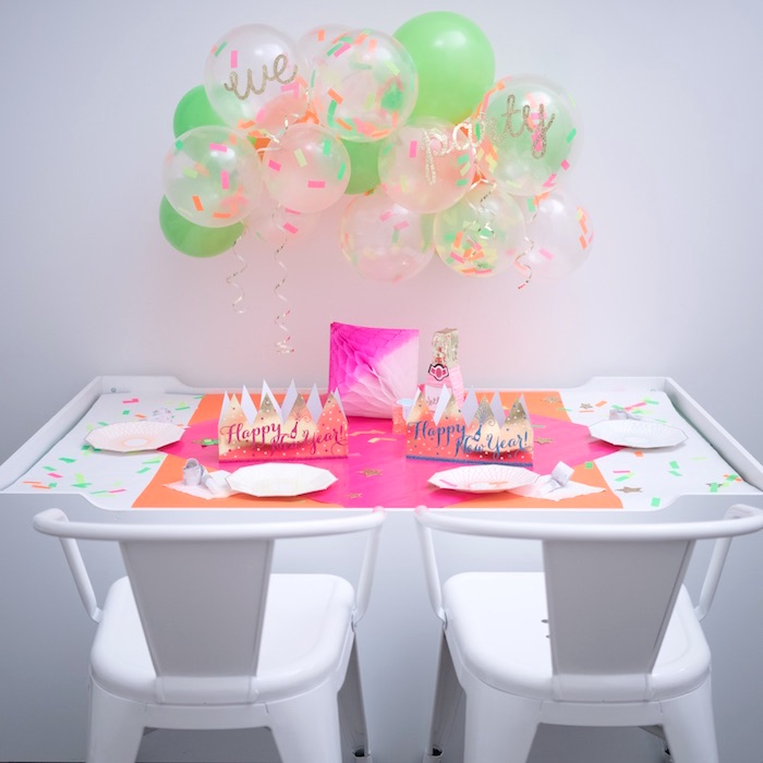 New Year's Party Table from It's 12 O'Clock Somewhere Neon New Year's Eve Party on Kara's Party Ideas | KarasPartyIdeas.com (4)