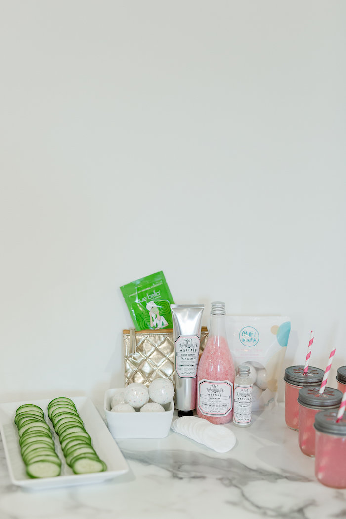 Kate Spade Inspired Spa Birthday Party on Kara's Party Ideas | KarasPartyIdeas.com (35)