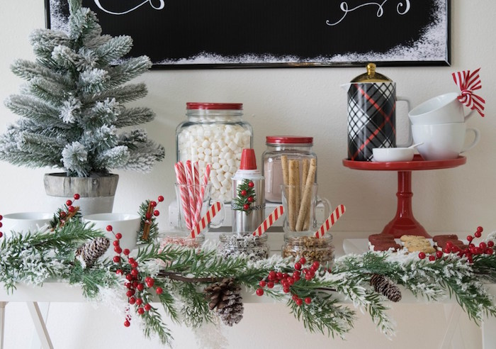 Hot Cocoa Bar from a Let it Snow Holiday Party on Kara's Party Ideas | KarasPartyIdeas.com (60)