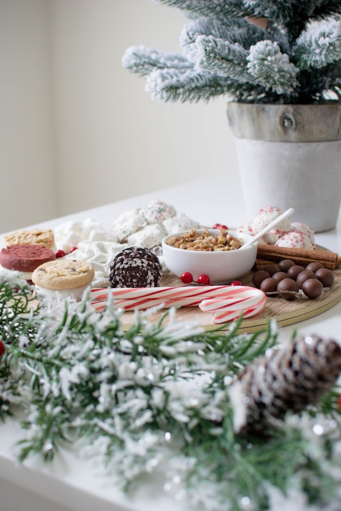 Sweet palette from a Let it Snow Holiday Party on Kara's Party Ideas | KarasPartyIdeas.com (22)