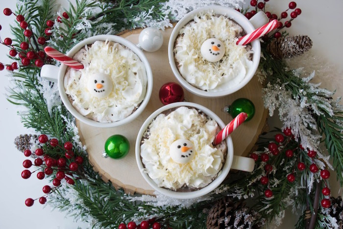 Snow Men hot cocoa from a Let it Snow Holiday Party on Kara's Party Ideas | KarasPartyIdeas.com (4)