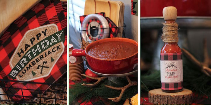 Chili bar from a Little Lumberjack Birthday Party on Kara's Party Ideas | KarasPartyIdeas.com (51)