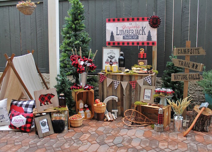 Little Lumberjack Birthday Party on Kara's Party Ideas | KarasPartyIdeas.com (46)
