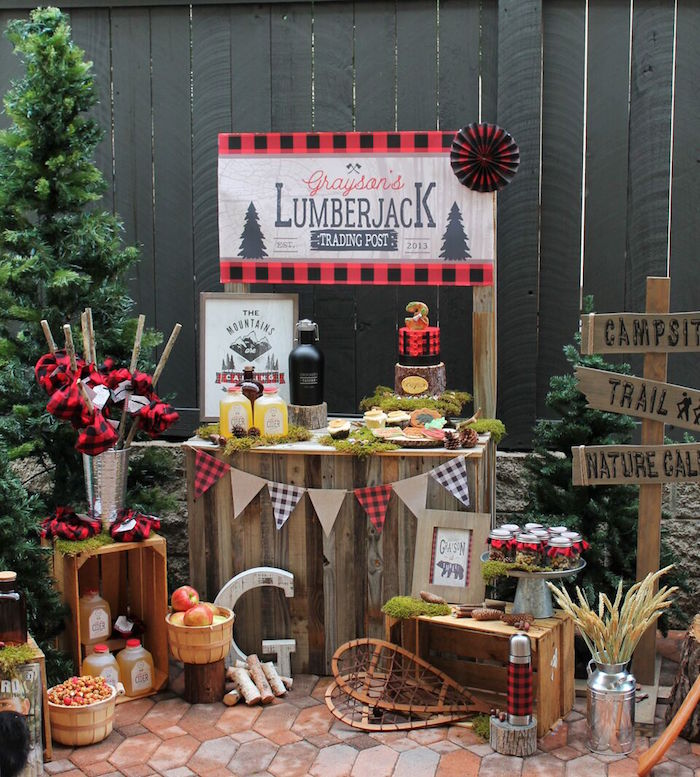 Little Lumberjack Birthday Party on Kara's Party Ideas | KarasPartyIdeas.com (45)